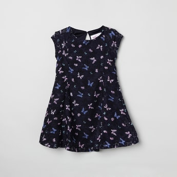 MAX Butterfly Print A-line Dress