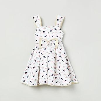 MAX Printed Pleated Dress
