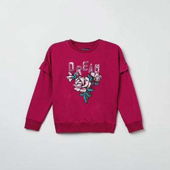 MAX Embellished Round Neck Sweatshirt