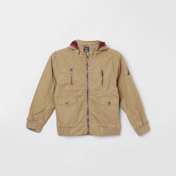 MAX Solid Full Sleeves Hooded Jacket