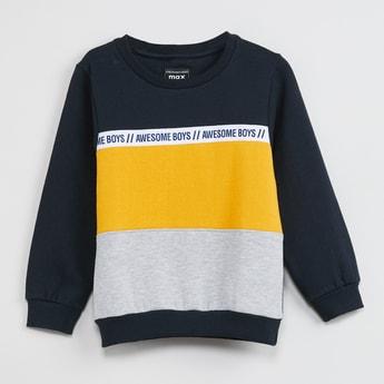 MAX Colourblock Full Sleeves Sweatshirt