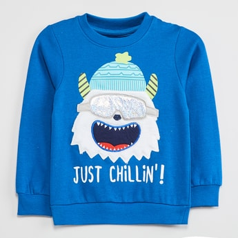 MAX Graphic Applique Sweatshirt