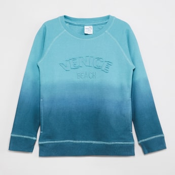 MAX Ombre Applique Sweatshirt