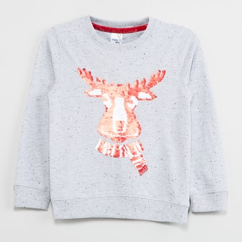 MAX Sequin Embellished Sweatshirt