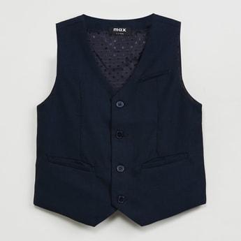 MAX Solid Woven Waistcoat