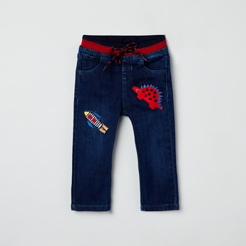 MAX Dark Washed Jeans with Applique