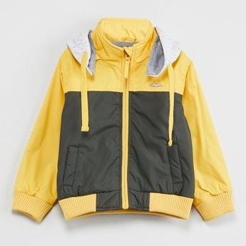 MAX Colourblock Hooded Bomber Jacket