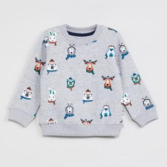 MAX Printed Heathered Sweatshirt