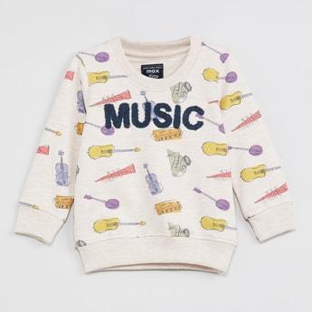 MAX Printed Sweatshirt with Applique