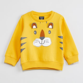 MAX Full Sleeves Sweatshirt with Applique Detail