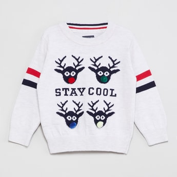 MAX Intarsia Knit Sweater