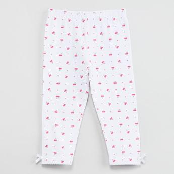 MAX Cherry Print Knitted Leggings