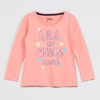 MAX Typographic Print Full Sleeves Top