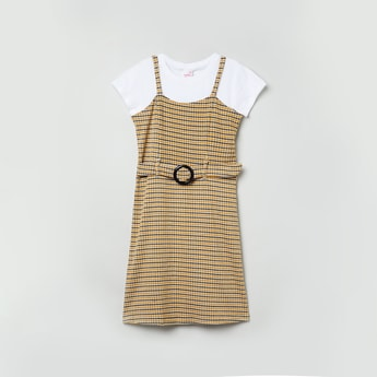 MAX Checked Dress with T-shirt