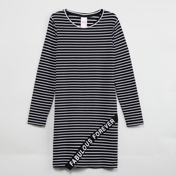 MAX Striped Full Sleeves Dress