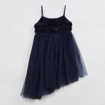 MAX Rosette Asymmetrical Hem Dress