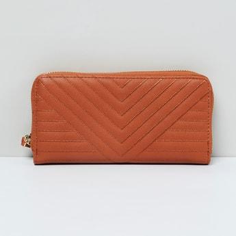MAX Quilted Zip-Around Wallet