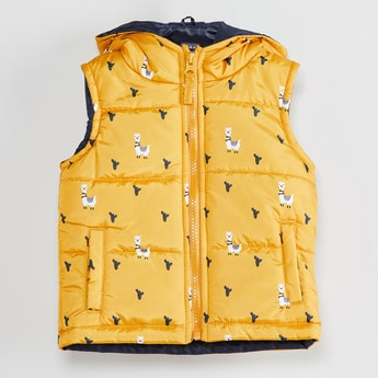 MAX Printed Hooded Gilet Jacket