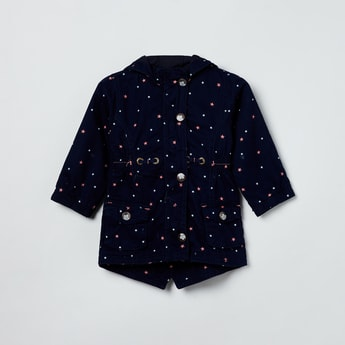 MAX Star Print Hooded Jacket