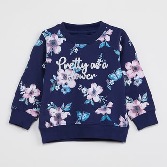 MAX Floral Print Full Sleeves Sweatshirt