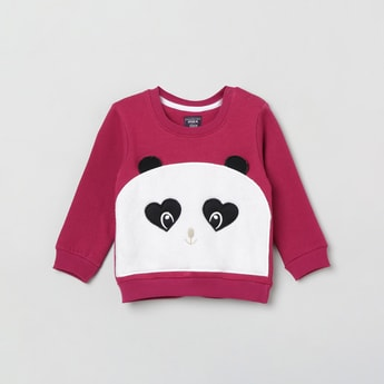 MAX Panda Applique Full Sleeves Sweatshirt