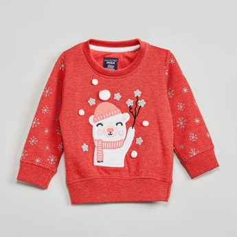 MAX Applique Detail Full Sleeves Sweatshirt