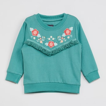 MAX Embroidered Full Sleeves Sweatshirt