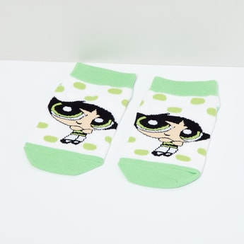 MAX Powerpuff Girls Print Colourblock Socks