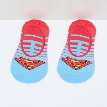 MAX Superman Pattern Footlet - 10-12Y