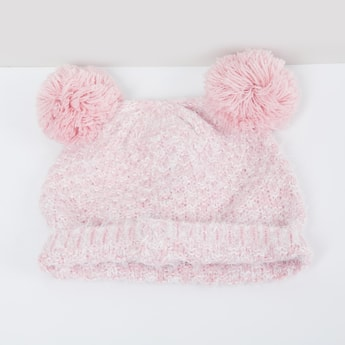 MAX Patterned Knit Beanie withy Pompom
