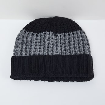 MAX Colourblock Patterned Knit Beanie