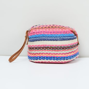 MAX Weave Patterned Cosmetic Pouch
