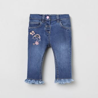 MAX Embroidered Jeans with Patch Pocket