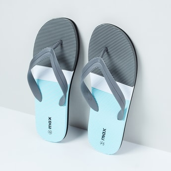 MAX Striped Colourblock Flip-Flops