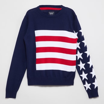 MAX Intarsia Knit Sweater