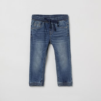 MAX Stonewashed Slim Fit Jogger Jeans