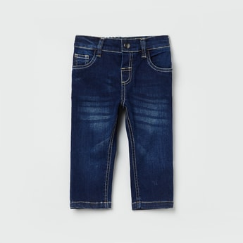MAX Dark Washed Jeans with Whiskers
