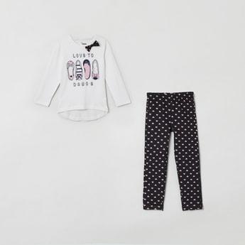 MAX Graphic Print T-shirt with Pyjamas