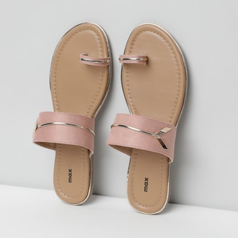 MAX Solid One-Toed Flat Sandals