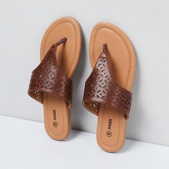 MAX Laser-Cut V-strap Sandals