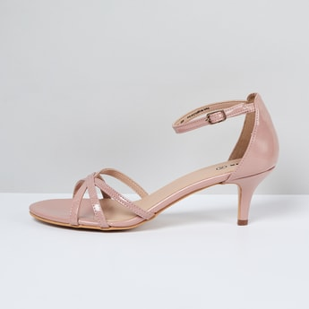 MAX Solid Ankle Strap Heels