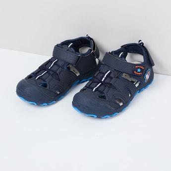 MAX Appliqued Velcro Strap Sandals