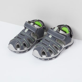MAX Solid Velcro Strap Sandals