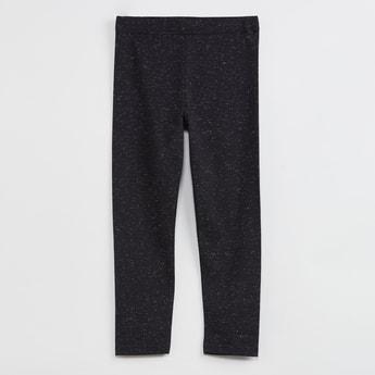 MAX Textured Elastic Waist Leggings