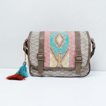 MAX Patterned Weave Sling Bag
