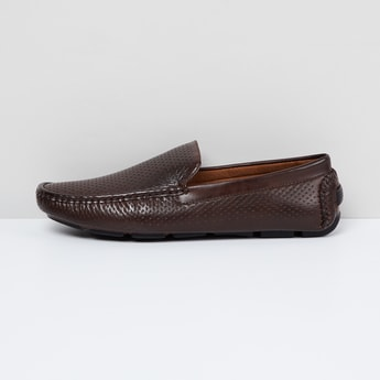 MAX Solid Perforated Loafers