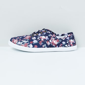 MAX Floral Print Lace-up Shoes