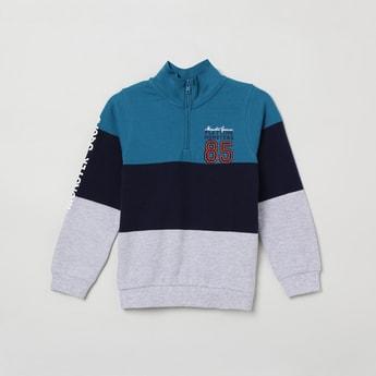 MAX Colourblocked Zip-Closure Sweatshirt
