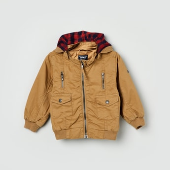 MAX Solid Hooded Zip-Closure Jacket