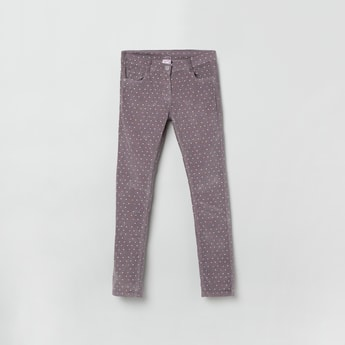 MAX Printed Slim Fit Corduroy Trousers